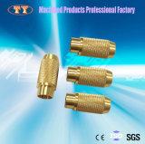 Pièces de machines de rotation matérielles en laiton moletées d'ajustage de précision de pipe de précision