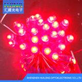 indicatori luminosi della stringa di colore rosso LED di esposizione di 12mm con 2pin