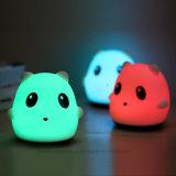 Lumière multicolore de nuit des silicones DEL (6001)