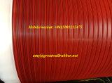 Fitness color suelos de caucho antideslizante Mat lámina de goma acanalada