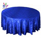 Decoração do banquete do banquete de casamento do Tablecloth do tafetá de Pintuck