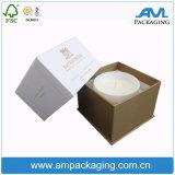 Bougie Noire mate cadeau personnalisé Pacakaging boîte avec le logo d'impression