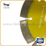 De gele Scherpe Schijf van het Blad van de Zaag van de Diamant van 114 mm Hete Pers Gesinterde