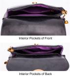 광저우 제조자 OEM PU 가죽 숙녀 어깨에 매는 가방 핸드백