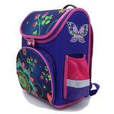 Meninas Purple Butterfly Backpack Kids Mochila Mochila Escolar saco impermeável