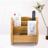 Sostenedor de madera de escritorio tamaño pequeño de la nota de 4 ranuras