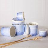 изготовленный на заказ<br/> 6 унции мороженого бумаги сосуд Куполообразная крышка