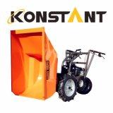 Mini descargador de torneado fácil de tres ruedas con capacidad de cargamento 250kg