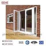 Puerta de cristal de la bisagra de aluminio de encargo para el precio externo