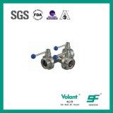 Gesundheitliche des Ventil-SS 316 Position 2 Schelle-der Enden-(rotes Silikon)