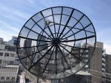인공위성 C 악대 중국 공장에서 알루미늄 메시 접시형 안테나 9개 피트 300cm/3m 극지 마운트