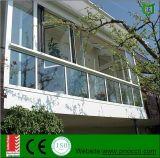 Ventana de aluminio y ventana plegable con el vidrio Tempered