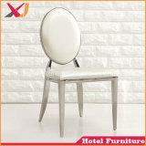 Aço inoxidável Hotel branco moderno Banquetes Cadeira de jantar