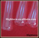 Tubo de cristal modificado para requisitos particulares Polished claro de cuarzo con un extremo cerrado