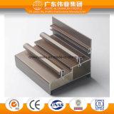 Perfil de alumínio extrudido de grãos de madeira da Janela