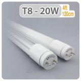 Bureau de l'éclairage du tube à LED T8 10W 15W 20W du feu du tube à LED