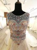 2018着のレースのAラインのプロムの夕方のカクテルの花嫁のウェディングドレス
