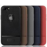 iPhone 7plus /8plus를 위한 새로운 디자인 케이스 TPU 가죽 여주 가는 줄 패턴 이동 전화 덮개