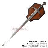 Espadas medievais da decoração das espadas das espadas da película 109cm HK8286