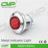 19mm LED wasserdichte gelbe rotes und grünes Signal-Lampe