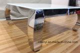 Vierkante Koffietafel van de Basis van het Roestvrij staal van het Glas van de woonkamer de Meubilair Aangemaakte Hoogste