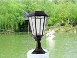 Lámpara solar del pilar de la luz solar al aire libre del jardín