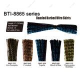 Plus de choix de couleurs de fil barbelé bagués jupe pour matériel de pêche à la mouche