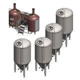 equipo de la fabricación de la cerveza 100L
