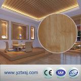 平らで純粋な白PVC天井は天井のタイル300mmの幅に乗る