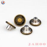 17mm 65 Metal Jeans Botão da haste de latão Botão de giro para vestuário de denim Estanho de cobre