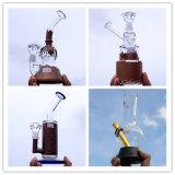 熱い販売のガラス配水管またはタバコの煙る管のゴム製最下の水ぎせる