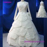 Vestido de casamento longo muçulmano elegante 2018 do vestido
