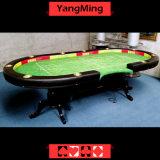 Der 110 Zoll-Spieler-Tiger-Standardbeine Ym-Ba11 deluxer Kasino-Grad-Berufstexas-Holdem Schürhaken-engagierte Tabelle-10