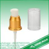 Bomba de alumínio cosmética do tratamento com fechamento com nervuras