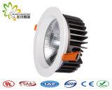 2018 고성능 20W LED 옥수수 속 아래로 빛, IP44 Lifud 운전사 LED Downlight
