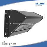 Luz al aire libre 140lm/W del paquete de la pared del LED con el sensor 20W~120W IP65