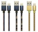 Nylon van Mfi vlechtte de Bliksem van 8 Speld aan USB Sync en het Laden Koord voor iPhone, iPad en iPod (met de Riemen van het Leer)
