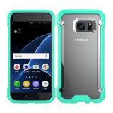 Punto de metal a prueba de golpes de escarabajos cubierta para el teléfono celular Samsung S7 S7 Slim Case transparente Egde