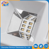 6-10W effacent la lumière extérieure solaire carrée en verre de mur de DEL