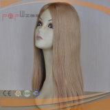 Pruik van de Vrouwen van de Huid van het Haar van de blonde de Braziliaanse Hoogste (pPG-l-0941)