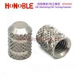 Diamant dans trou borgne en acier inoxydable, l'écrou moleté Outer-Knurled