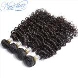 Выдвижение человеческих волос Unprocessed естественной китайской глубокой волны Weft