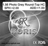 1.56 Obiettivo ottico grigio fotocromico di Hc della parte superiore rotonda