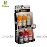 Supermercado que hace publicidad del fabricante del soporte de visualización de la cartulina acanalada para la bebida de la energía