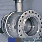 3PC RF operado pneumática com flange de montagem do munhão da Válvula Esférica (Q641F)
