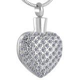 Bijou en cristal d'incinération d'acier inoxydable de femmes de collier de coeur de Bling Bling