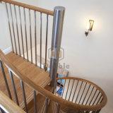 Populäres Haupt/Wooden-gewundenes Treppenhaus des entwurfs-gewundenen Treppenhauses