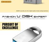 Alta velocidade Pendrive da movimentação 16GB 32GB da pena do USB 3.0 do External do mini metal da memória Flash 64GB do USB mini