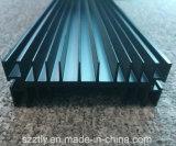 Profilo anodizzato il nero sporto di alluminio/dell'alluminio della lega del piatto