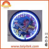 Horloge de mur au néon de Batman de type neuf de logo pour le cadeau promotionnel